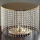"12"" tall Metal Cake Stand with Crystal Pendants Wedding Birthday Party WHOLESALE"