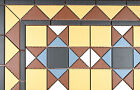 Victorian floor tile borders, corners & inset.