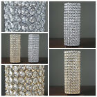 "3 pcs 16"" tall Faux Crystal Beaded Candle Holder Centerpieces Wedding WHOLESALE"