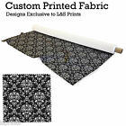 DAMASK PRINT FABRIC LYCRA SATIN JERSEY CHIFFON DIMOUT  PRICES FROM £15.99-£27.99