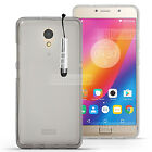 For Lenovo Vibe B P2 A Plus Gel Clear  Silicone Cover Pudding Gel + Touch Stylus
