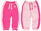Baby Jogging Pants Girls Pink Fleece Tracksuit Jog Bottoms New Age 6-24 Months
