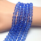 Wholesale 20/50/100/200PCS Royalblue Rondelle Faceted Crystal Loose Spacer Beads
