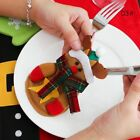 Snowman Christmas Xmas Cutlery Holder Decors Tableware Fork Spoon Bag