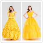 Beauty and the Beast Belle Cosplay Costume Halloween Party Fancy Dress S M L XL