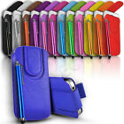 Magnetic close Slim Leather Pull Tab Flip Case Cover & Stylus fits Many Phones