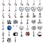European Silver CZ Fine Alloy Charm Beads Pendant in Bulk Fit Bracelet Chain CA
