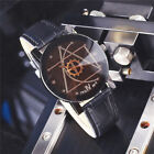 Luxury Men's Watch Stainless Steel Leather Quartz Analog Business Wrist Watches