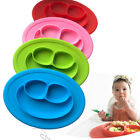 Smile Face Cute Silicone Mat Baby Kids Feeding Plates Bowls Trays Placement New
