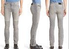 BELSTAFF Stretch Cotton Ringwood Washed Slim Fit Moto Grey Jeans NEW NWT $495
