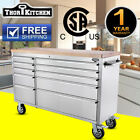 """THOR HTC5510W 55"""" 10 Drawers Rolling Tool Chest Stainless Steel w/ Casters"""