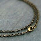Bronze Necklace Antique Bronze Plated chains Round Link Rolo Chain 2.5mm cn207b