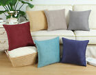 "CaliTime Solid Chenille Cushions Covers Throw Pillows Shell Sofa Decor 18"" X 18"""