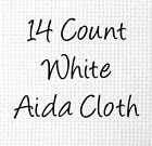 14-Count Aida White Cross Stitch Cloth, Choose Your Size, Bu