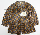 UNIQLO Orla Kiely 69 Navy Blouse from Japan