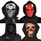 Adults Halloween Mask Hood Sugar Skull Devil Dark Fancy Dress Costume Accessory