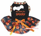 So Cute its Spooky Halloween Black Top Pumpkin Spider Web Tutu Dog Puppy Dress