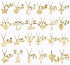 Fashion Women Stainless Steel Gold Jewelry Set Necklace & Earrings Pendant Chain