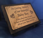 Personalised Angel Baby Engraved Granite Memorial Grave Plaque Stone Any Text