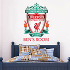 Liverpool Fc Wall Sticker Personalised Name & Crest  + Liverpool Decal Set