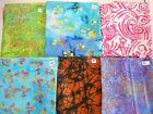 """More new BATIKS 100% cotton fabric India swirls paws floral 1 yd x 44"""" FREE SHIP"""