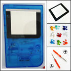 Nintendo Game Boy Pocket GBP Replacement Housing Shell Clear Blue BUTTONS!