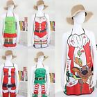 Unisex Kitchen Rib Apron Christmas Decoration Holiday Dinner Party W3LE