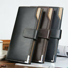 Business Men's Billfold Leather Clutch Trifold Wallet 26 Cards Holder Long Purse