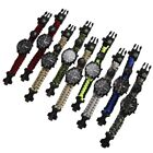 Outdoor Survival Watch Bracelet with Compass Flint Fire Starter Paracord