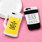 Fashion funny 3D Hot beer coffee silicone Soft case Cover for iPhone 8 7 6S Plus