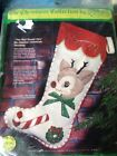 """Paragon 6124 """"The Red Nosed One"""" Be-Jeweled Christmas Stocking Kit, Rudolph"""