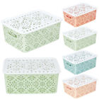 Внешний вид - Plastic Storage Basket Box Bin Container Organizer Clothes Laundry Home Holders