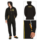 Adults Official Harry Potter Hogwarts Crest Zip Up Hooded Jumpsuit All In One