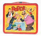 Vintage Popeye Steel Lunch Box W/ Thermos 1980 Aladdin