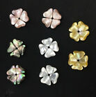 10PCS  10mm Charm White Black Pink Yellow Natural Shell Flower beads
