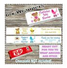 6 x Personalised Chocolate Bar Wrapper Kit Kat Baby Shower Favour Gift