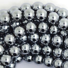 "Silver Magnetic Hematite Round Beads Gemstone 16"" Strand 4mm 5mm 8mm 10mm 12mm"