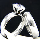 4MM Wide Engagement Ring Stainless Steel Simulated Diamond Wedding Band Set