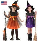 Toddler Kids Baby Girls Halloween Costume Witch Clothes Part