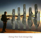 Portable Folding Fishing Rod Carrier Canvas Pole Tools Storage Bag Case Z5F9