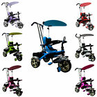 FoxHunter 4In1 Kids Children Trike Tricycle 3 Wheel Ride Bike Parent Handle BT01