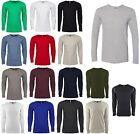 MEN'S LONG SLEEVE, CREWNECK, COTTON/POLY WAFFLE THERMAL T-SHIRT, PREWASHED S-2XL