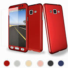 For Samsung Galaxy S6 S7 360° Hybrid Tempered Glass Protective Hard Case Cover