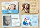 Boys Christening & Baptism Invitations Cards With Free Envelopes