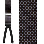TRAFALGAR FORMAL NAPLES NARROW SILK BRACES SUSPENDERS -$88 VALUE - 2 COLORS