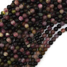 Natural Watermelon Tourmaline Round Beads 15.5' Strand 4mm 6mm 8mm 10mm 12mm
