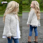Hot Baby Toddler Girls Hoodie Cardigan Jacket Coat Knit Sweater Outwear Clothes