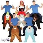 Adult Piggy Back Ride On Step In Funny Stag Fancy Dress Costume Outfit Halloween