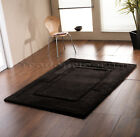 Small-Large Thick Chunky Wool Black Bordered Rug. Clearance Ltd Stock