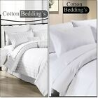 1000 TC 100% Egyptian Cotton Sheet & Duvet Set in New Hotel Quality Super White